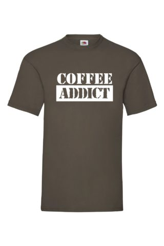 COFFEE ADDICT Valueweight T-paita