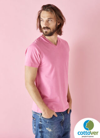 Cottover Miesten V-aukko T-paita